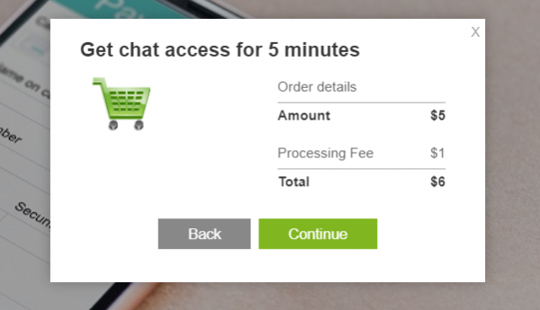 chat access payment
