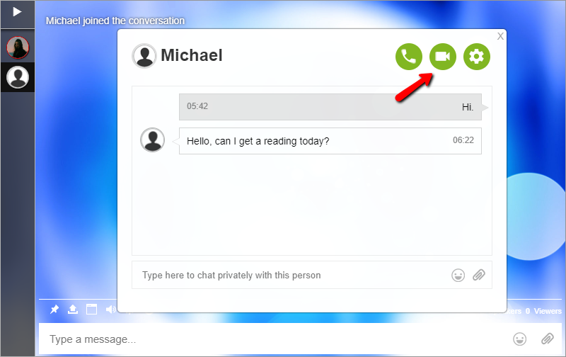 How to make a Video call? - Online Group Chat Room Plugin