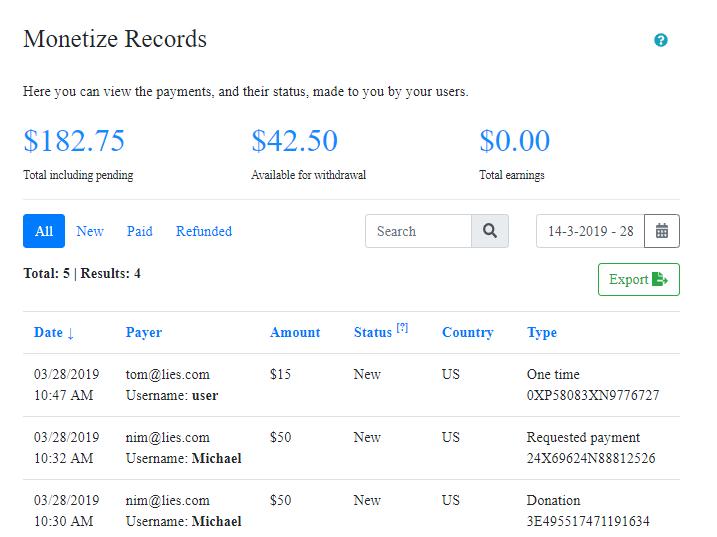 monetize records