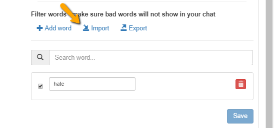 import words