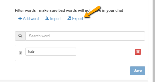 export words
