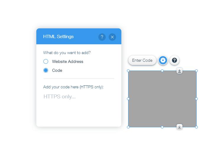 wix html settings