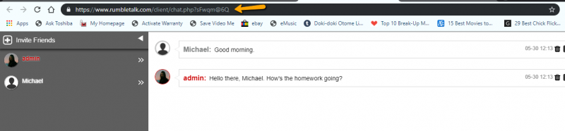 online learning chat