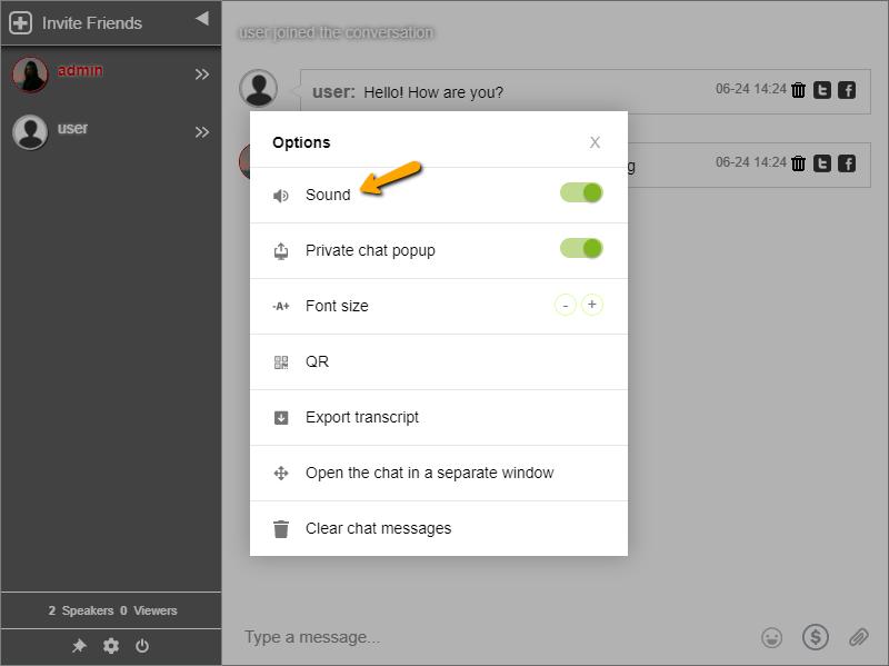 chat menu