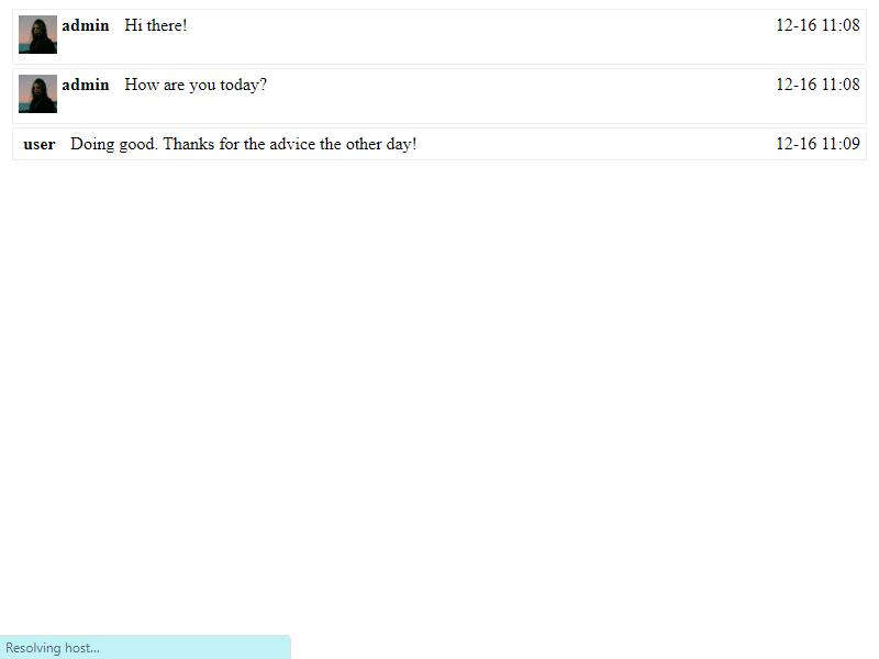 chat transcript