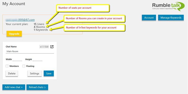 Wordpress group chat settings