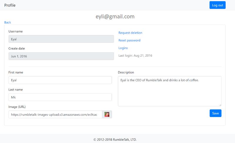 chat room details